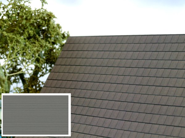 Fbr02 Modern Slate Grey Roof 1 32 Scale Hlt Miniatures