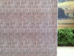 FBW01 5x Sheets of Weathered Block Wallpaper 1:32 Scale by HLT Miniatures