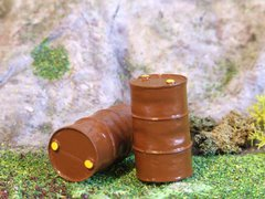 FB029 2x Oil Drums Barrels 1:32 scale by HLT