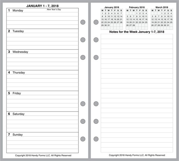 FPL Weekly Planner, 2 Pages per Week, 2 Pages per Month, with Lines (Style D)