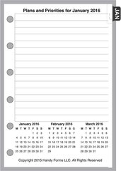 FPK Monthly Planner, 4 Pages per Month, With Lines