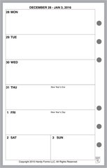 FCC Weekly Planner, 1 Page per Week, 2 Pages per Month, No Lines (Style B)