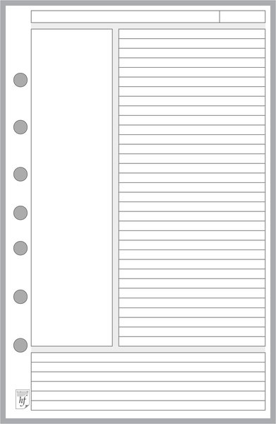 FCS Note Paper Designed for the Cornell Notetaking System