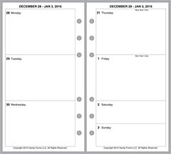 FPL Weekly Planner, 2 Pages per Week, 2 Pages per Month, No Lines (Style B)