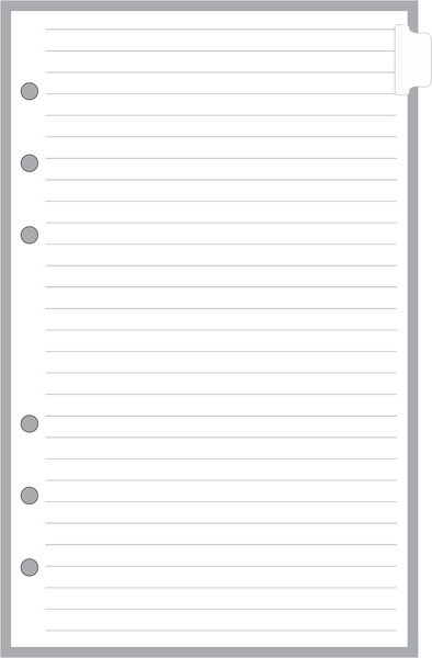 FCC Blank Tabbed Index Pages - Card Stock