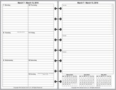 LVJ Weekly Planner, 2 Pages per Week, 2 Pages per Month, Plus Organizer Page (Style C)