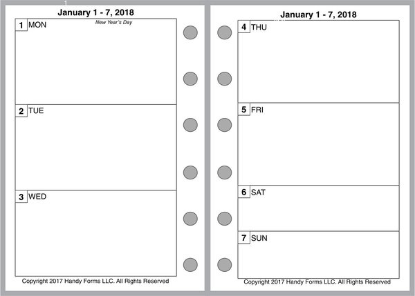 FPK Weekly Planner, 2 Pages per Week, 2 Pages per Month, No Lines (Style B)