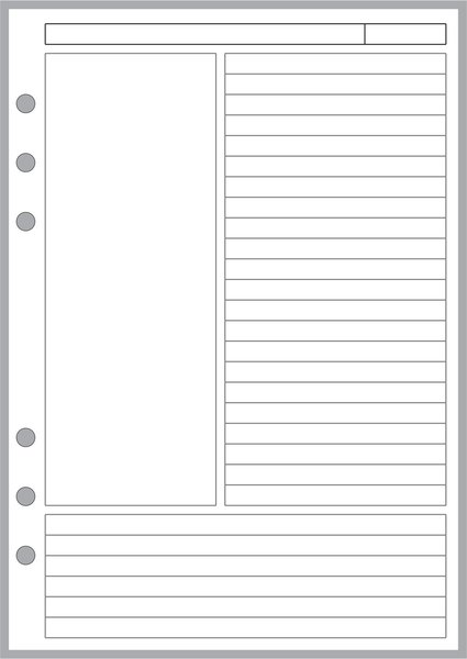 A Note Paper Designed For The Cornell Notetaking System  Handy