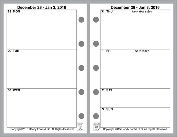 FMI Weekly Planner, 2 Page per Week, 2 Pages per Month, No Lines (Style A))