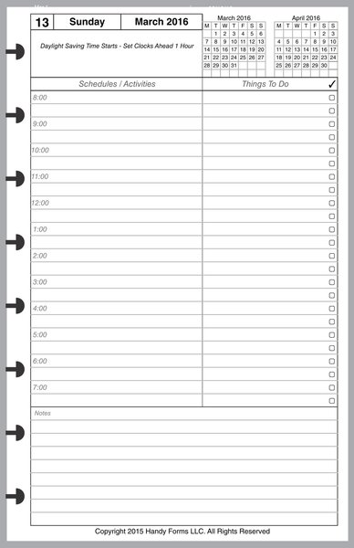 LVJ Daily Planner, 1 Page per Day, 3 Pages per Month (Style A)