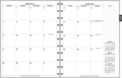 LVL Monthly Planner, 2 Pages per Month, 8-Columns, No Lines