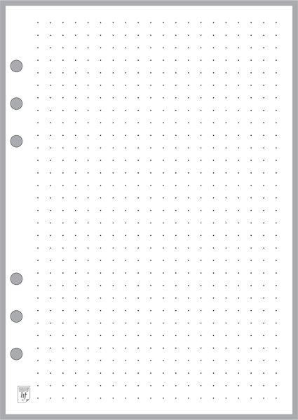 "A5 Dot Grid Paper 0.25"""
