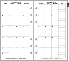 FPL Monthly Planner, 2 Pages per Month, 8 Columns, No Lines