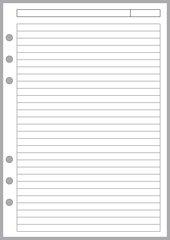 A5 Note Paper