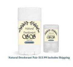Natural Deodorant Dual By The Sheep Shelf