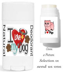 Animal Theme Labels For Your Natural Deodorant Choose a Picture