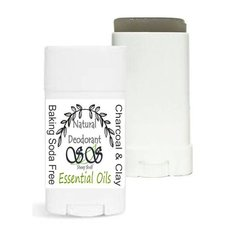 Baking Soda Free Natural Deodorant With Bentonite Clay & Activated Charcoal