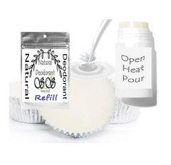 Natural Deodorant Refill Pouch   Deodorant Stick Refills DIY Heat & Pour