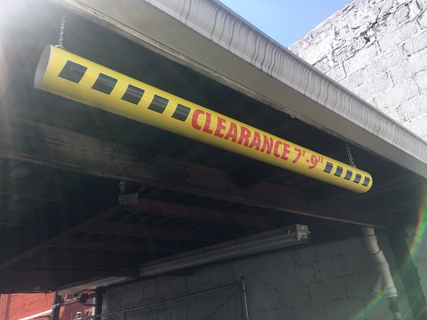 Clearance Bar Oversized Car Wash Caution Tunnel