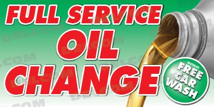 Full Service Banner Oil Change Banner Lube Cheap Car