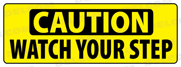 Car Wash Caution Sign Decal Watch Your Step Cheap Delcom Car Wash Signs