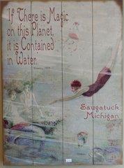 Magic on this Planet - Vintage Meissenburg Wood Sign