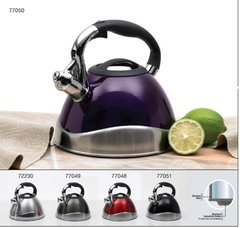 Crescendo 3.1 Qt Stainless Steel Whistling Tea Kettle with Capsulated Bottom - All Stainless Steel
