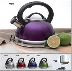 Alexa 3.0 Qt Stainless Steel Tea Whistling Tea Kettle with Capsulated Bottom - Metallic Cranberry
