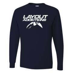 Longtail Duck Logo T-Shirt Long Sleeve Black