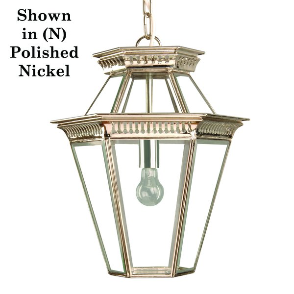(410) Bevelled Glass Georgian Hanging Lantern