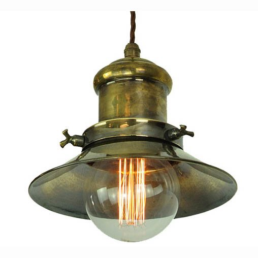 Small Brass Wall Lamps : Edison (Small) Single Adjustable Height Wall Light Antique Brass (1900-1-WAD-AB) The Limehouse ...