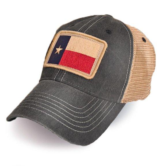 Texas Flag Patch Trucker Hat Black S L Revival Co