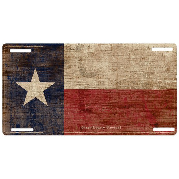 Very Texas Vintage License Plate | S.L. Revival Co IO35