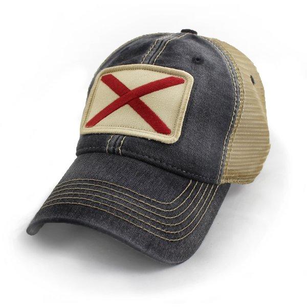 Alabama State Flag Hat Black | S.L. Revival Co
