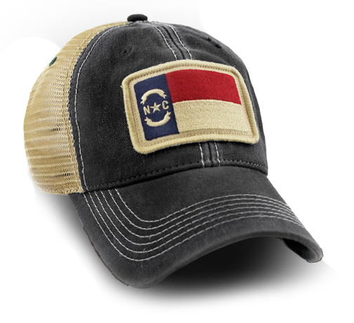 4f3e7b30ff8685 We have created what we believe are the best vintage state flag trucker hats  available. The North Carolina Flag Hat was our very first design back in  2012.
