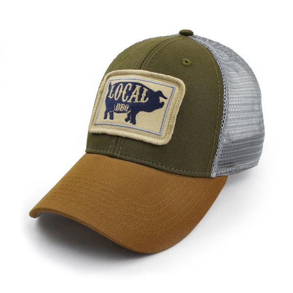 Everyday Trucker Hat Structured Local Bbq Pig Olive S