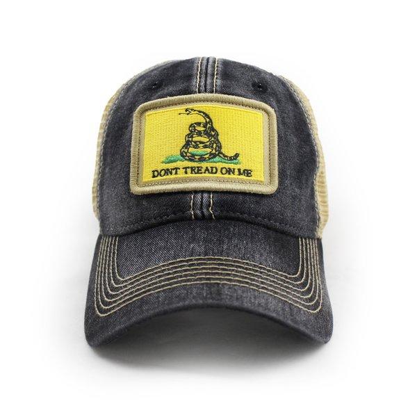 Gadsden Don't Tread on Me Flag Trucker Hat, Black | S.L ...