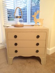 SOLD - Shabby Chic Chest of Drawers in Autentico Almond