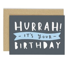 Hurrah It's Your Birthday Card