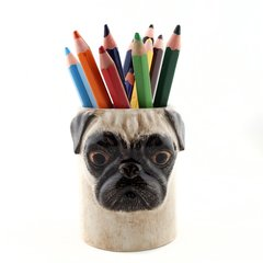 Pug Pen or Toothbrush Pot in Fawn by Quail Ceramics
