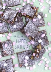 Rocky Road Recipe Birthday Card by Laura Truby