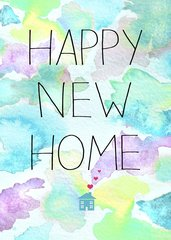 Happy New Home Card by Laura Truby
