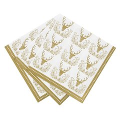 Party Porcelain Stag Gold Napkin