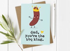 Dad BBQ King Card by Mrs Best