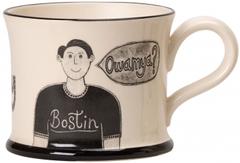 Boston Black Country Mon Mug by Moorland Pottery