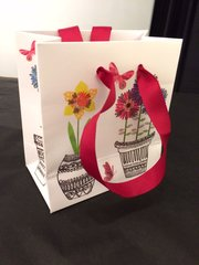 Flowers in Pots Mini Gift Bag