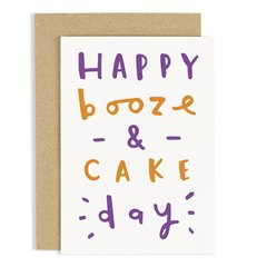 Happy Booze & Cake Day Card