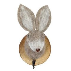Felt rabbit trophy hook