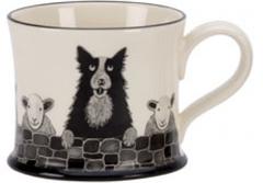 Sheep Dog Mug by Moorland Pottery