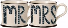 Moorland Pottery Mr & Mrs Mugs